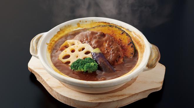 香辛亭 - 料理写真:土鍋ハンバーグ_カレー
