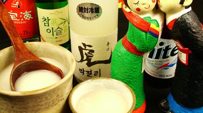 タル家 - 料理写真:マッコリやチャミスルなど韓国酒も多数!