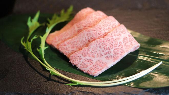 松阪牛炭火焼肉まる良 - 料理写真:松阪牛大トロ