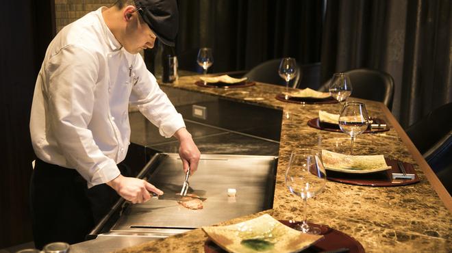 近江牛一筋 農家レストラン だいきち - 料理写真:ステーキカウンター イメージ
