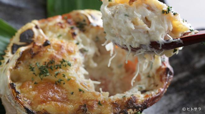 湾 - 料理写真:ズワイガニとジャガイモのグラタン
