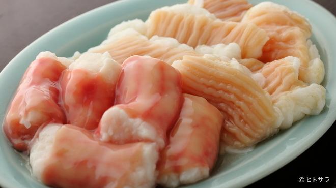 ホルモン平田 - 料理写真:人気のシマチョウとマルチョウ