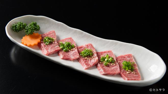醐醍 - 料理写真:自慢の一皿『和牛特上ハラミ』