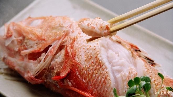 きた鳥 - 料理写真:中濃ソースでいただくオホーツク海の名物『めんめ湯たき』