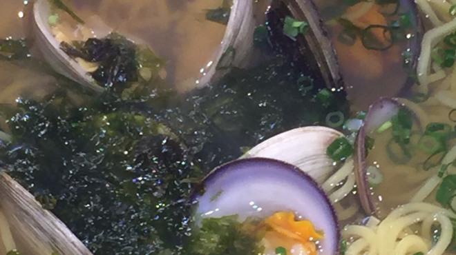 湘南浜焼きセンター 海女小屋 - 料理写真:2017年4月14日、17日(月)~21日(金)まで、貝ラーメンやります。もちろんコチラも食べ放題。ご注文は、海女ちゃんまで。