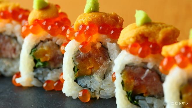 魚輝 - 料理写真:その日の入荷によって変わる創作料理『魚輝オリジナル寿司』
