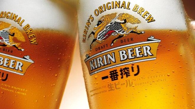 浜辺 - ドリンク写真:生ビール