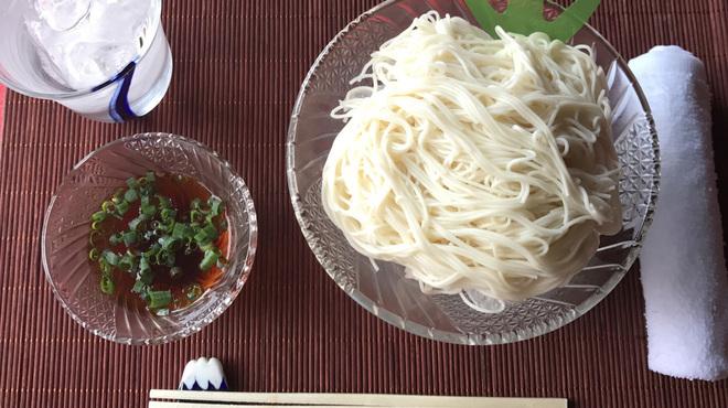 上尾そーめん きゅんきゅん亭 - 料理写真:さっぱりとしたノーマル素麺♪