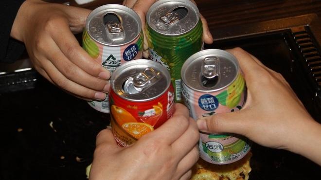 月島もんじゃ 屋形船 - 内観写真:飲み放題!!もちろん食べ放題!!好きなだけ食べて飲んで下さい!