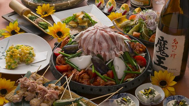 とりひめ - 料理写真:期間限定 祭夏-saika-コース飲放付3980円(税込)