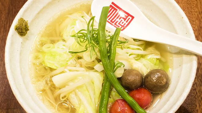 らぁめん冠尾 - 料理写真:野菜清湯半めん