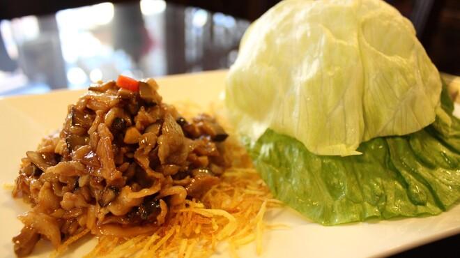 明賢荘 - 料理写真:ミンチとレタス包み