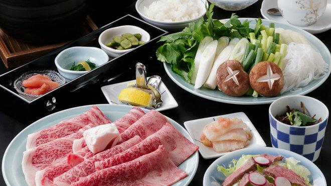 藤尾 - 料理写真:塩すき焼満足コース