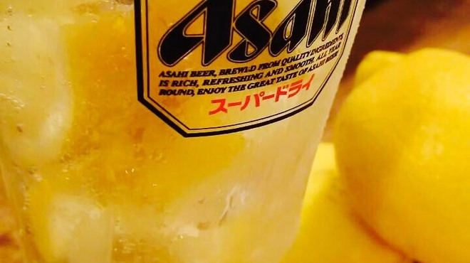 さぶらい - ドリンク写真:凍結レモンサワー!レモン丸ごと1個使用!夏にピッタリの清涼感