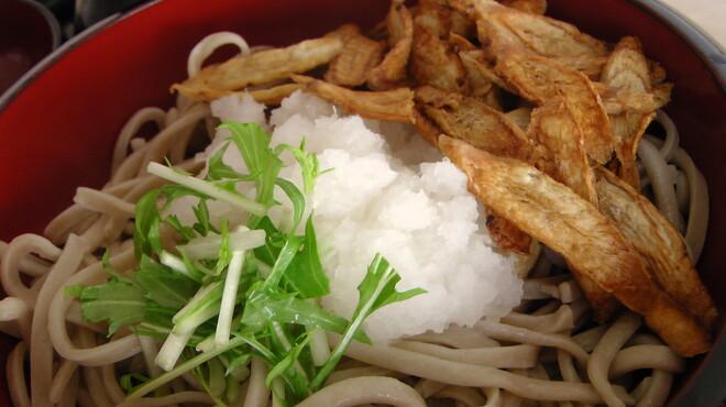 たちばな - 料理写真:サクサクに揚げた薄切りごぼうは香ばしく美味