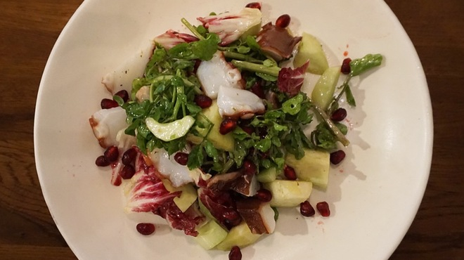 goffo - 料理写真:蛸と水茄子、ザクロのサラダ