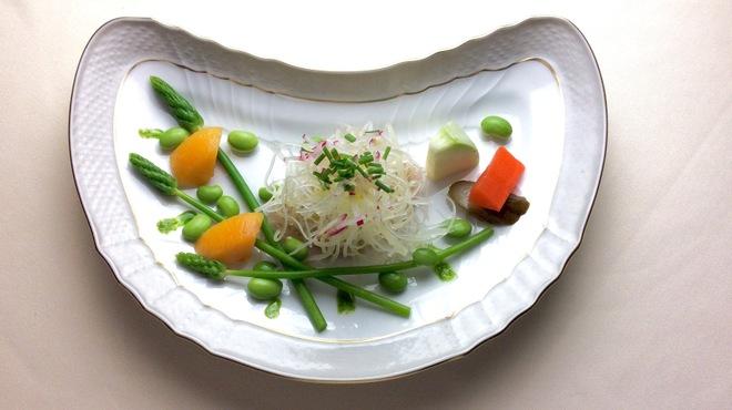 アカーチェ - 料理写真:天然ヒラメのカルパッチョ