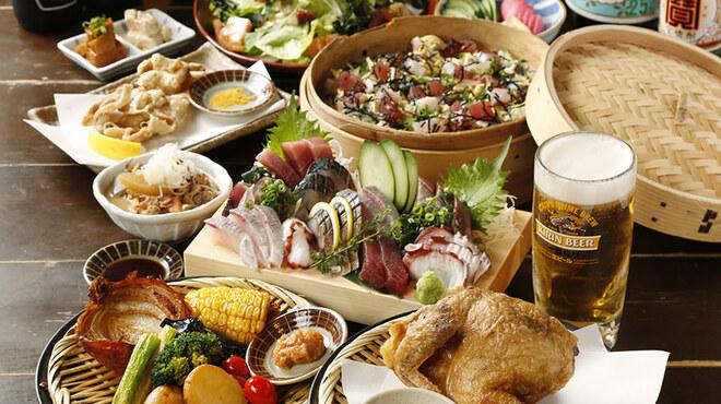 素揚げ酒場 パリパリ - 料理写真:贅沢に素揚げを楽しむ!4,500円コース