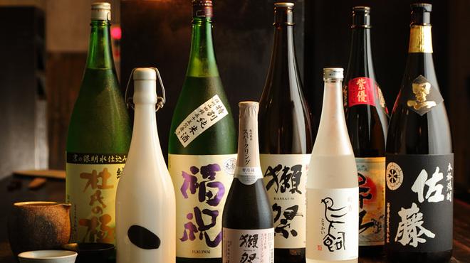 江戸前炭火焼 kemuri - ドリンク写真:焼酎&日本酒