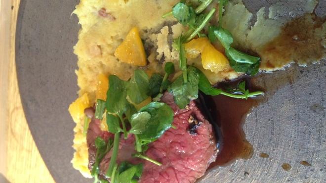 テラ・アウストラリス - 料理写真:QL産和牛の炭火焼き スモークさつまいもマッシュ