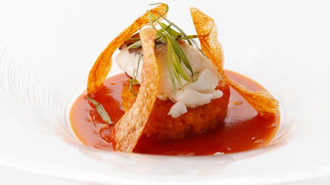 バカリ ダ ポルタ ポルテーゼ - 料理写真:真鯛のヴァポーレ 海老のソース