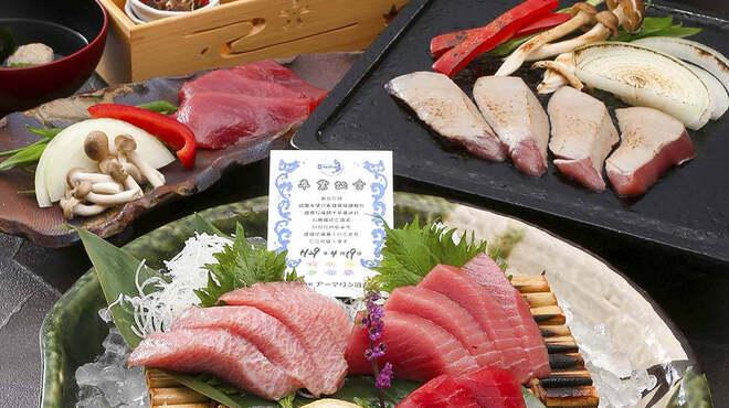 近畿大学水産研究所 - 料理写真:近大マグロづくしコース