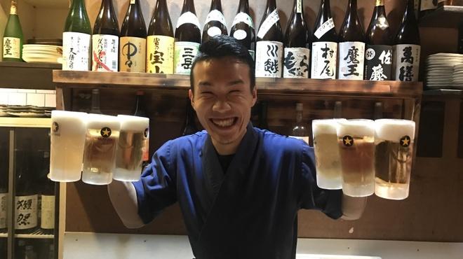 一休 - ドリンク写真:キンキン冷えたビール!!