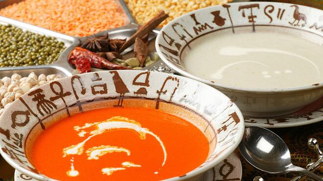 ケララ - 料理写真:トマトスープ★トマトと野菜のクリームスープ。支持率98%の人気スープ。ぜひ一度♪ \500 <ハーフ \300>