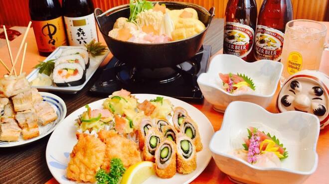 かかし - 料理写真:よっちゃんコース一例