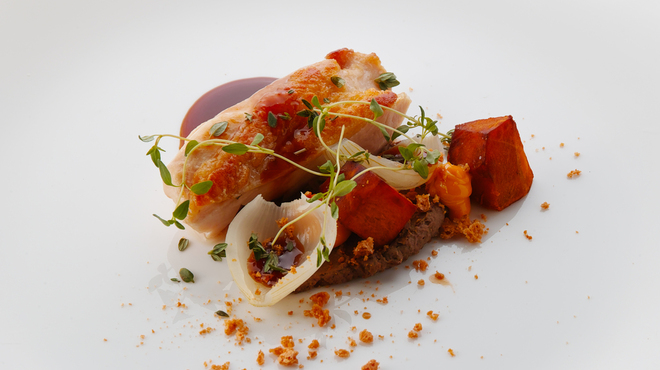 ビオディナミコ - 料理写真:[ランチ] 大山鶏のロースト レバーペーストとかぼちゃ