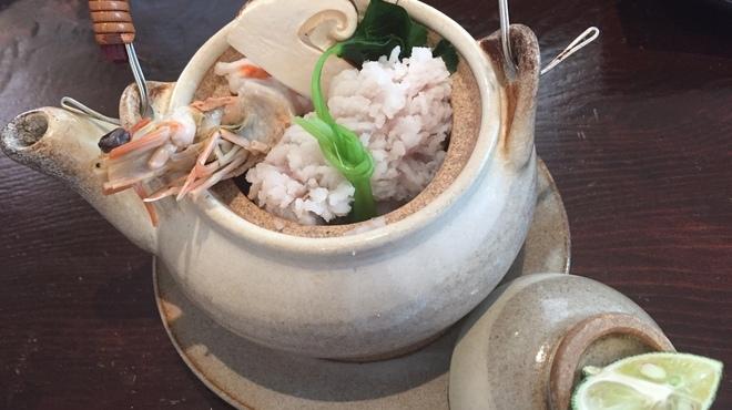 割烹 煮炊 - 料理写真:松茸、鱧、海老」の土瓶蒸し
