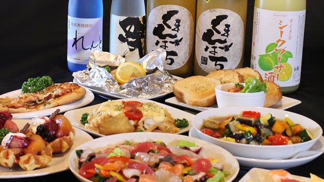 マルハチ商店 - 料理写真:3時間飲み放題付き レディースプラン