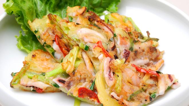 水刺齋 - 料理写真:海鮮ネギチヂミ