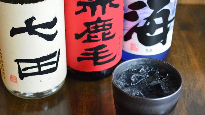 牛タン べこ串 - ドリンク写真:本格焼酎の強力炭酸割り乙ハイ