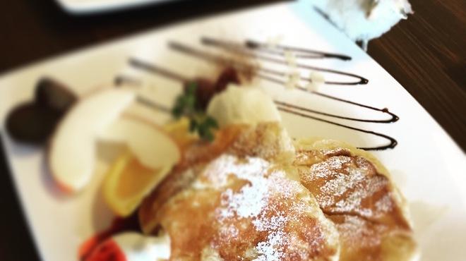 バイゲツカフェ - 料理写真:15時〜17時限定のお米のパンケーキです!