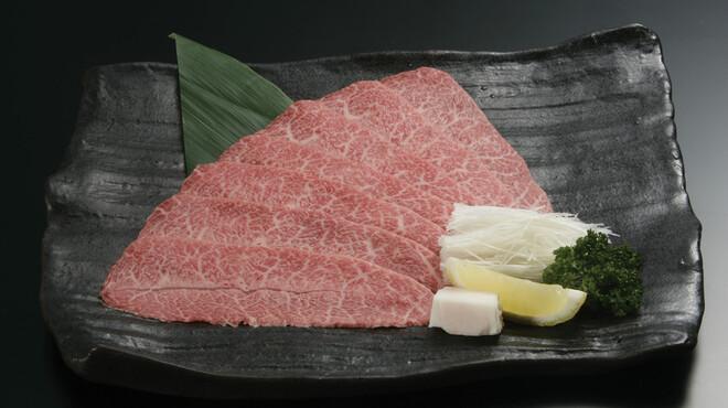 蔓牛焼肉 太田家 - 料理写真:「みすじしゃぶ焼」超希少部位「みすじ」 霜降りなのにあっさりとした味。これも人気メニューのひとつ。