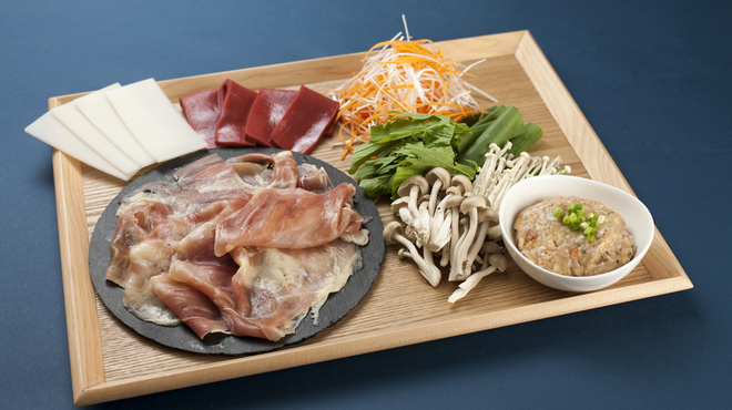 YUGEYA - 料理写真:名古屋コーチンしゃぶしゃぶセット