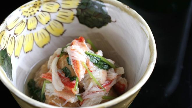 安芸茶寮 - 料理写真:揚げ小芋蟹餡かけ