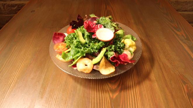 ダブリュー表参道 ザ セラーグリル - 料理写真:野菜たっぷり海老とアボカドのサラダ