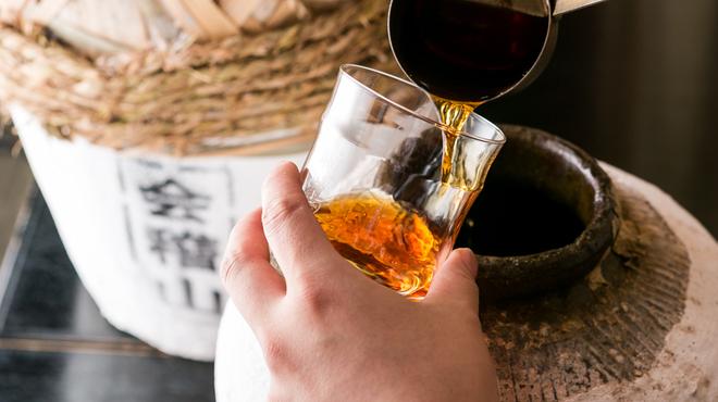 天然居 - 料理写真:中華料理に一番合うの甕紹興酒