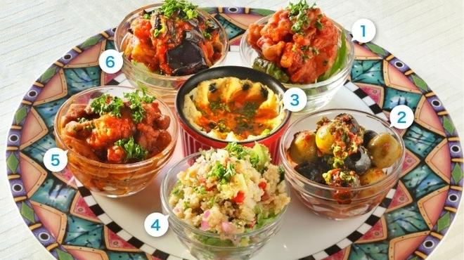モロッコ料理 ル・マグレブ - 料理写真:前菜の盛合せ