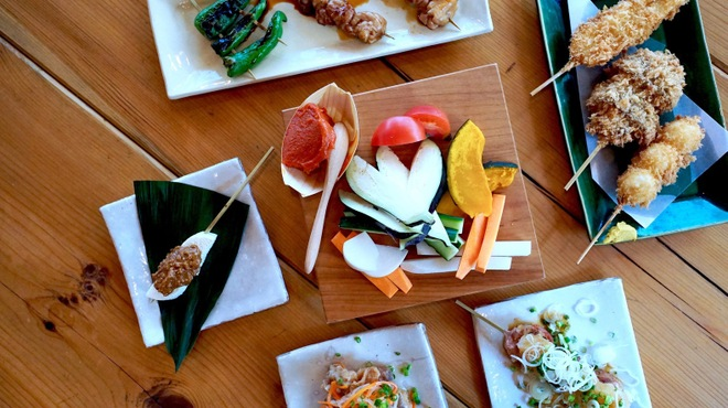 ikkai - 料理写真:こだわりの食材で串揚げ串焼きを数多く揃えています。