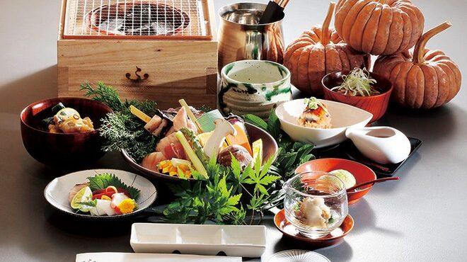福西本店 炭蔵 - 料理写真:旬な食材をシンプルに炭箱で焼いて!