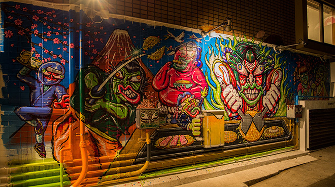 さくら亭 - メイン写真:外観壁画