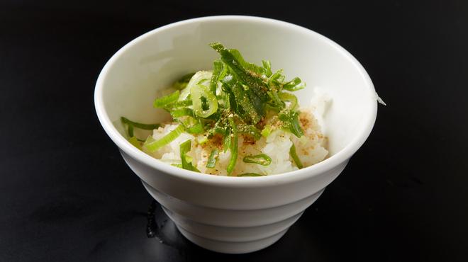 丸鶏 白湯ラーメン 花島商店 - 料理写真:〆の替え飯