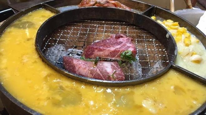 立喰☆焼肉 瑞園 - 料理写真:御付き出し ケランチム&チーズコーン&キムチ焼き