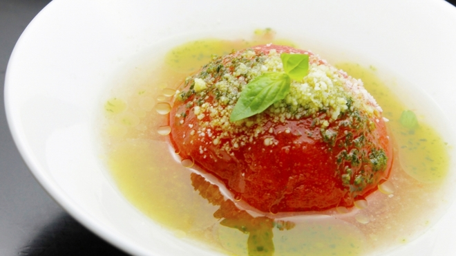 キタバル - 料理写真:【12月のBAL-ODEN】まるごとトマト バジルソース 380円