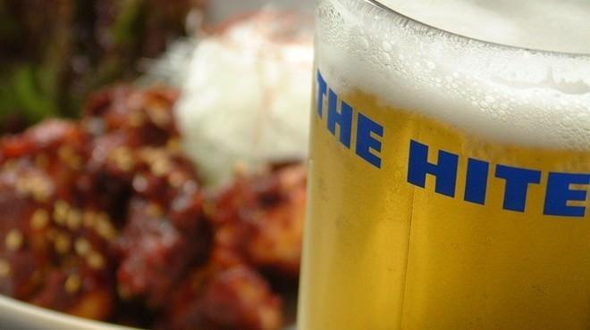 韓喰 - ドリンク写真:HITEビール