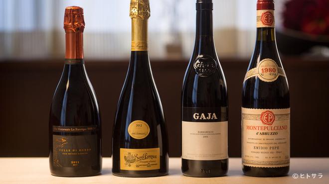 リストランテ ラ・バリック トウキョウ - ドリンク写真:料理に寄り添い、互いの魅力を引き立てる豊富なグラスワイン
