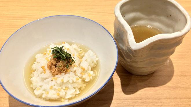 うまい麺には福来たる - 料理写真:Cセット 鯛そぼろ茶漬け